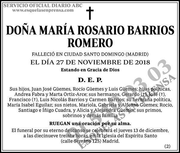 María Rosario Barrios Romero